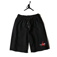 JORDAN Print Side Men Sports Running Shorts Black