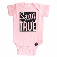Stay True Onesuit - Pink