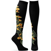 Florals Chamomile Knee High Sock