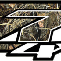 Set of Two - Chevy Silverado Z71 4x4 Realtree, Mathews, and Mossy Oak Camo stickers decals 1500 2500 side bed