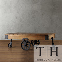 TRIBECCA HOME Myra Vintage Industrial Modern Rustic Cocktail Table   Overstock.com