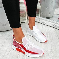 New women's shoes casual fashion coconut breathable wild running sports shoes flying shoes single shoes