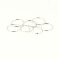 CLASSIC HAMMERED 7 RING SET - SILVER