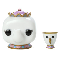 Funko Disney Beauty And The Beast Pop! Mrs. Potts & Chip Vinyl Figures
