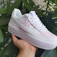Dior x Nike Air Force 1 women's low-top all-match sneaker shoes