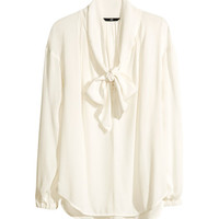 Tie Blouse - from H&M
