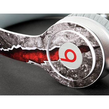 Red Cracked Stone Skin for the Beats by Dre