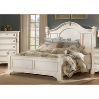 American Woodcrafters BKIT-2910-961-2910-963-2910-881 Heirloom Antique White King Size Poster Bed