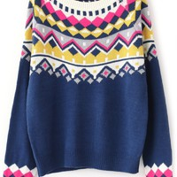 Southwester-Inspired Knit Sweater - OASAP.com