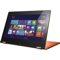 """Lenovo - IdeaPad Ultrabook Convertible 11.6"""" Touch-Screen Laptop - 4GB Memory - 128GB Solid State Drive - Clementine Orange"""