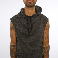 The Creed Sleeveless Hoodie in Charcoal Triblend