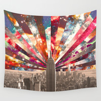 Superstar New York Wall Tapestry by Bianca Green