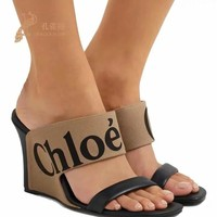 Chloe Fashion Casual Running Sport Shoes Sneakers Slipper Sandals High Heels Shoes