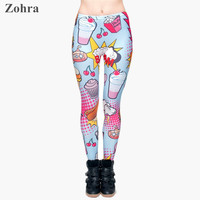 Fast Food Comix 3D Printing Stretchy Leggings
