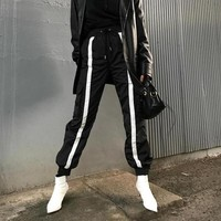 Front Striped Cargo Trousers