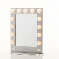 Broadway Lighted Vanity Mirror Silver