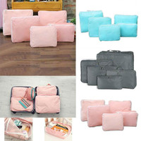 Portable 5 In 1 Waterproof Clothes Storage Bags Packing Cube Travel Luggage Organizer 82033