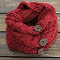 Womens Chunky Knit Scarf, Mocha Knitted Scarf, Oversized Scarf, Chunky Infinity Scarf, Winter Scarves, Snood or Cowl, Fall Scarf, Knit scarf from My fashion creations