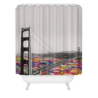 Bianca Green Its In The Water Shower Curtain