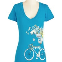 ModCloth Darling Mid-length Short Sleeves A Slew of My Favorite Things Top