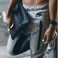 NIKE Women Fashion Print Sport Stretch Pants Trousers Sweatpants F