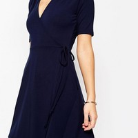 ASOS Mini Tea Dress with Wrap Front at asos.com