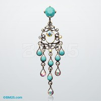 Vintage Boho Chandelier Reverse Belly Button Ring