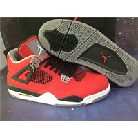 Air Jordan 4 red black Basketball Shoes 36-47