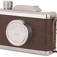 Stainless Steel Snapshot Flask by Foster and Rye