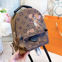 Louis Vuitton LV Fashionable Woman Leather Cartoon Pattern Mini Travel Bookbag School Bag Shoulder Bag Backpack