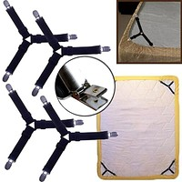 4Pcs/Set Bed Cushion Bed Sheet Home Supply Straps Holder Grippers Clip