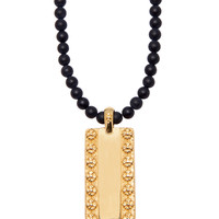 Necklace With Gold Dog Tag