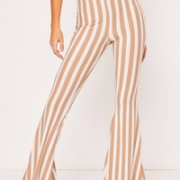 kasey camel stripe trousers