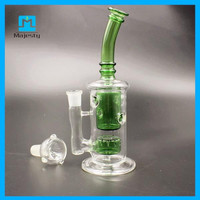 2015 New Arrival Majesty water pipe three honey comb glass bong high quality glass water pipe glass pipes free shipping