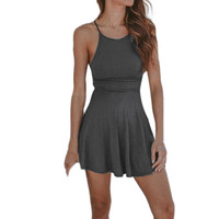 Mini Casual O-Neck Dress