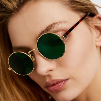 Free People Color Haze Round Sunnies