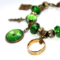 Lord of the Rings European Charm Bracelet. The One Ring Hobbit door Middle Earth