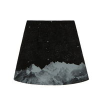 Mountain Print A-Line Skirt | MIXXMIX