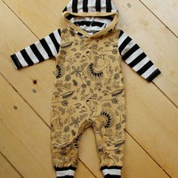 Turkey Hooded Romper