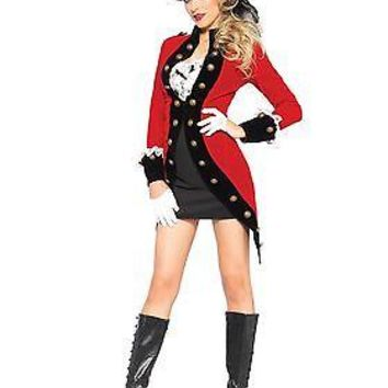Women's Rebel Red Coat Costume