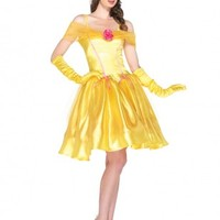 2 PC Yellow Princess Belle Costume @ Amiclubwear costume Online Store,sexy costume,women's costume,christmas costumes,adult christmas costumes,santa claus costumes,fancy dress costumes,halloween costumes,halloween costume ideas,pirate costume,dance costu