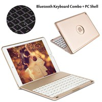 7 Colors Backlit Light Wireless Bluetooth Keyboard Case Cover For iPad Air / Air 2 For iPad 5/ iPad 6 For iPad Pro 9.7 + Gift