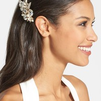 Wedding Belles New York 'Luella' Czech Crystal & Freshwater Pearl Clip