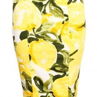 Yellow Lemon Print Pencil Skirt *As Seen on Mollie King* AVAILABLE NOW - Clothing from Lavish Alice UK