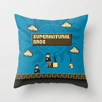 New Supernatural Bros. Throw Pillow by Byway