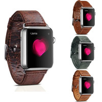 ICARER Genuine Leather Watch band Vintage Leather Loop For 42/38MM Apple Watch