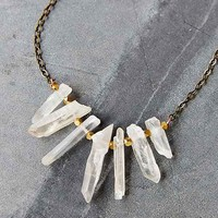 Local Branch Quartz Necklace- Bronze One