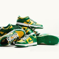 "Nike SB Dunk Low SP ""Brazil"" all-match low-top flat sneakers for men and women"