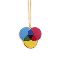 CMYK Enamel Necklace