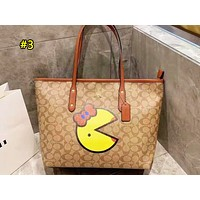 Coach fashion ladies cartoon printed shoulder bag is a hot seller of casual shopping bag #3